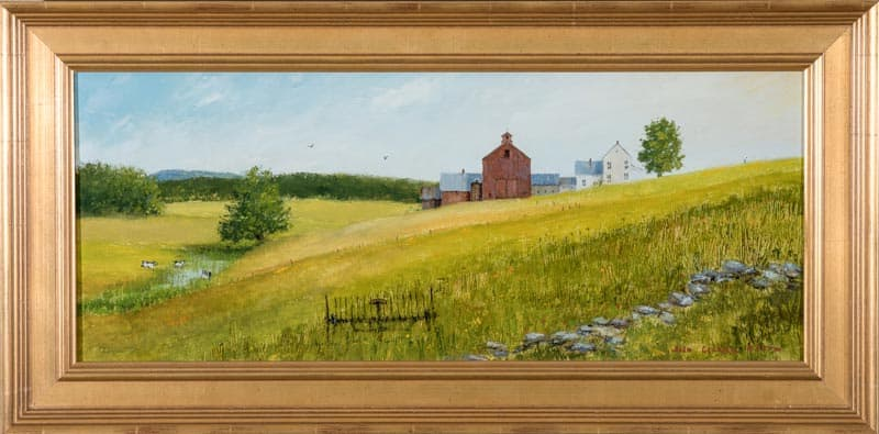 Vermont Summer Mid Day with Sketch/1053 By John Clarke Olson