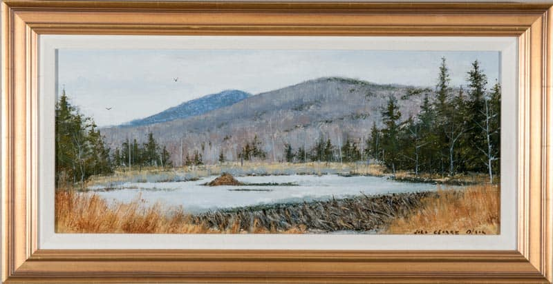 Beaver Lodge #245 With Sketch By John Clarke Olson