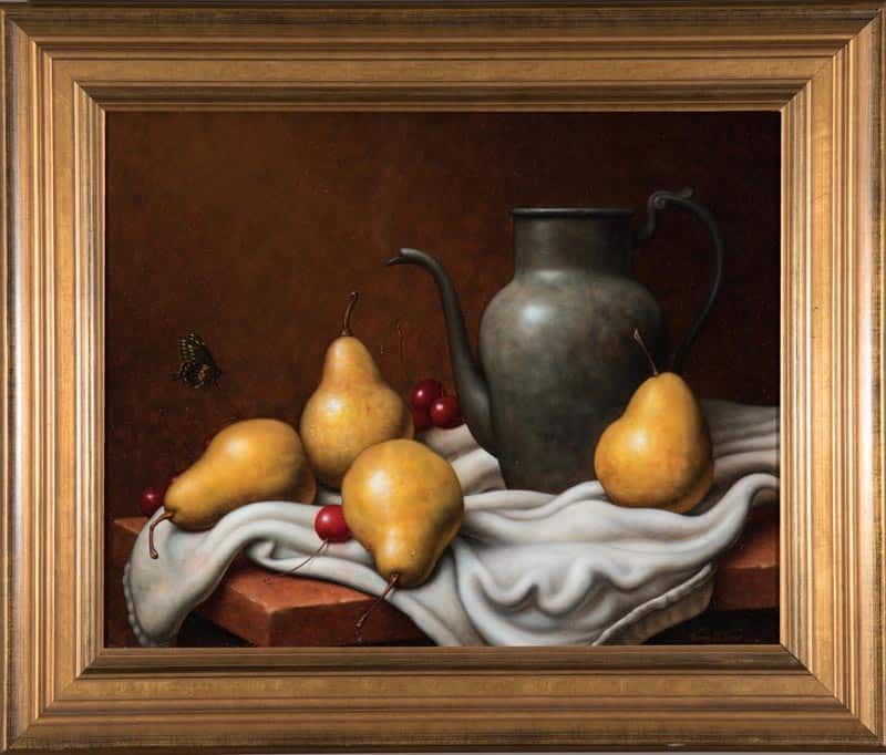 Pears And Cherries By Cynthia Gordon