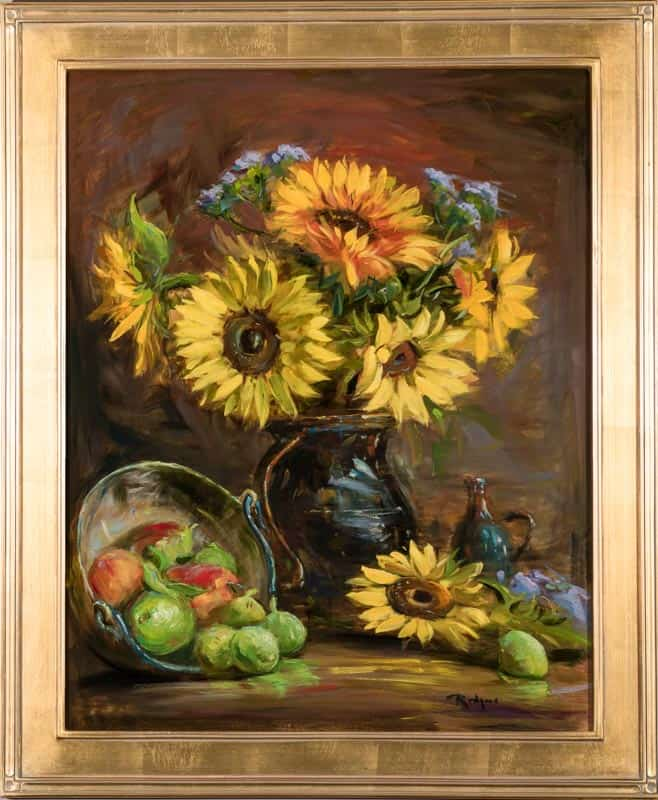 Late Summer. Sunflowers. 1943 By Jim Rodgers