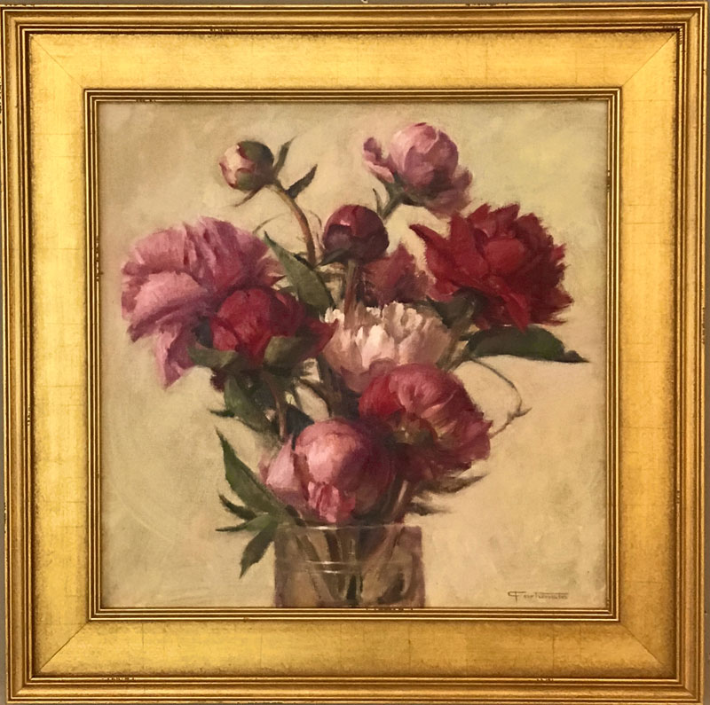 Blooming Peonies by Carol Fortunato