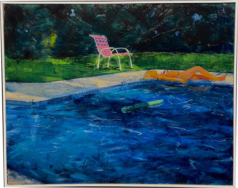 Oil Painting Pool Vermont