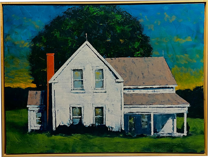 Oil painting Vermont House