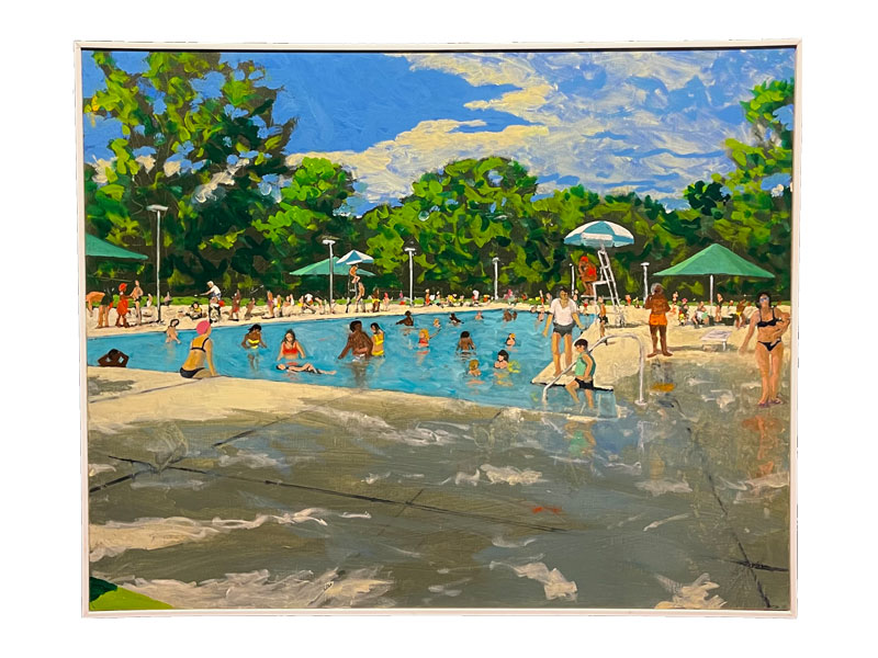 oil on linen pool painting
