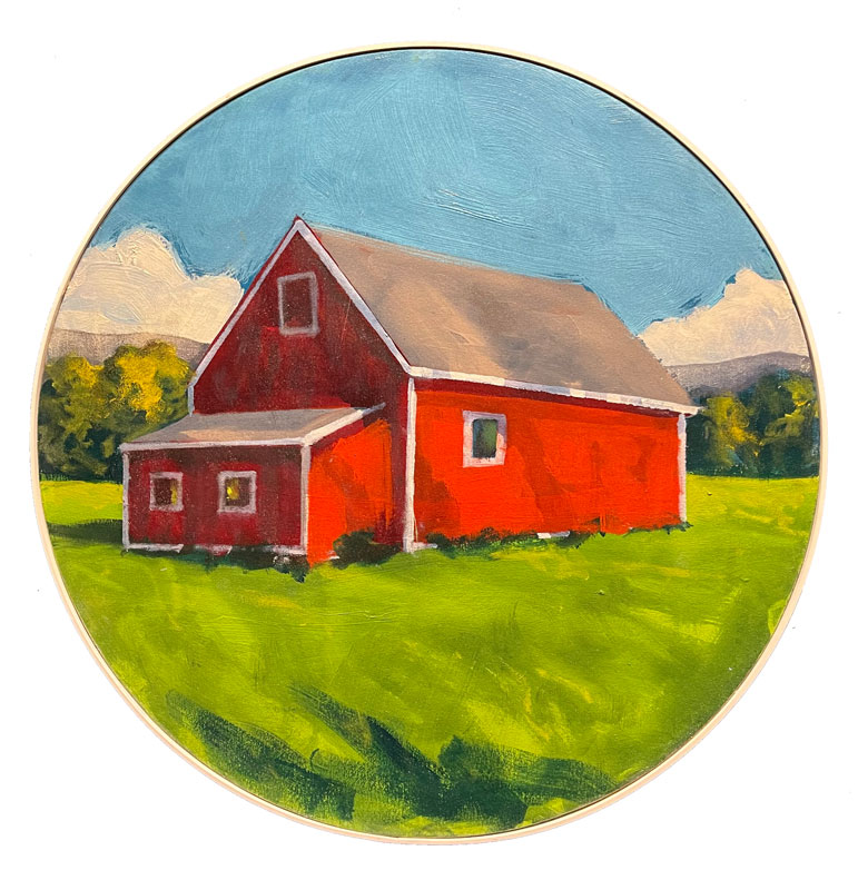 Oil Painting Barn Vermont